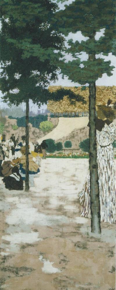 Edouard Vuillard, Tuileries, Kanvas Tablo, Édouard Vuillard, kanvas tablo, canvas print sales