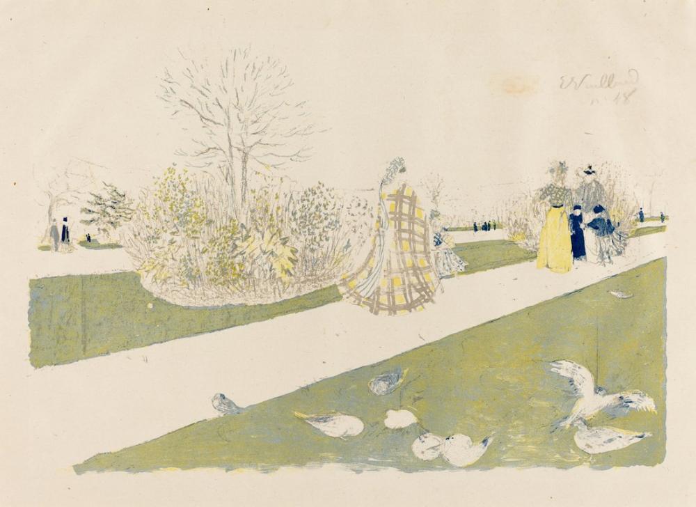 Edouard Vuillard, The Le jardin des Tuileries Published, Figure, Édouard Vuillard, kanvas tablo, canvas print sales