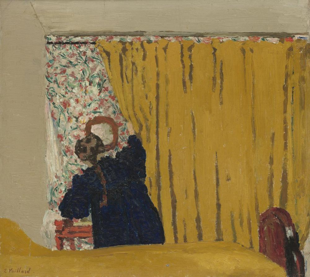Edouard Vuillard, Sarı Perde, Kanvas Tablo, Édouard Vuillard, kanvas tablo, canvas print sales