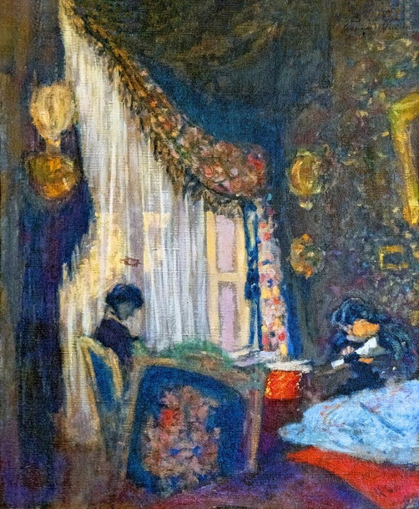 Edouard Vuillard, Toulouse Madame Hessel à sa fenêtre, Figure, Édouard Vuillard, kanvas tablo, canvas print sales
