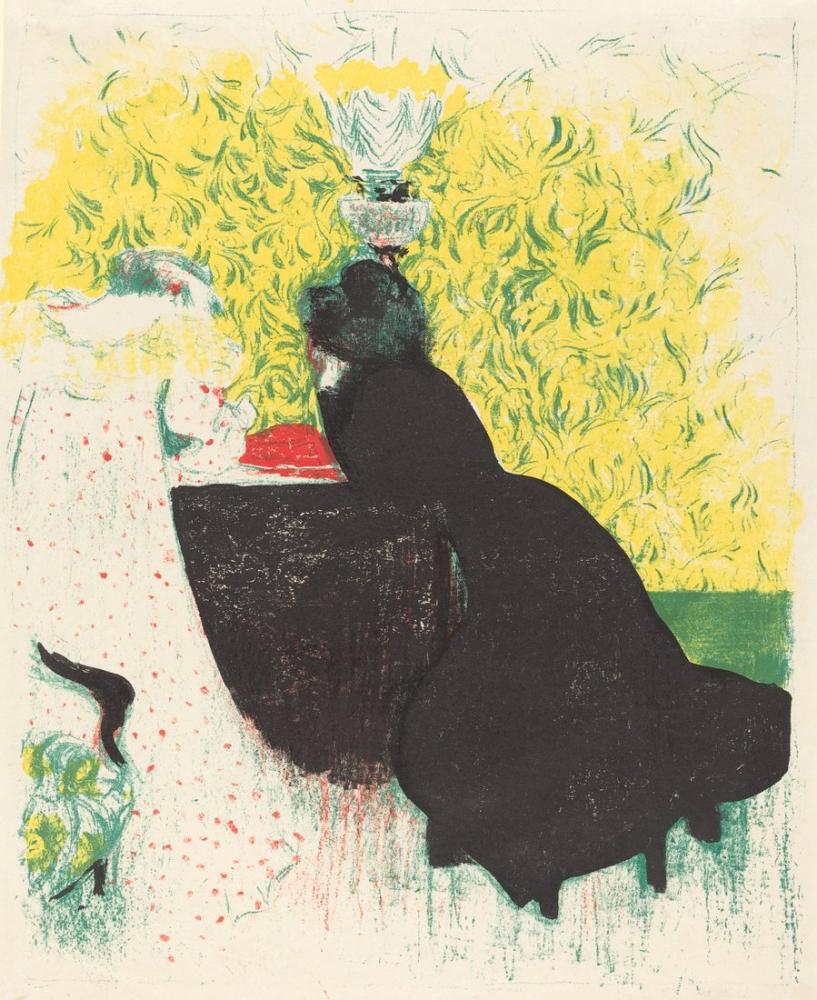 Edouard Vuillard, Les deux belles soeurs, Figure, Édouard Vuillard, kanvas tablo, canvas print sales
