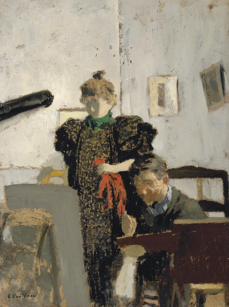 Edouard Vuillard, Vallotton, Natanson da, Figür, Édouard Vuillard, kanvas tablo, canvas print sales
