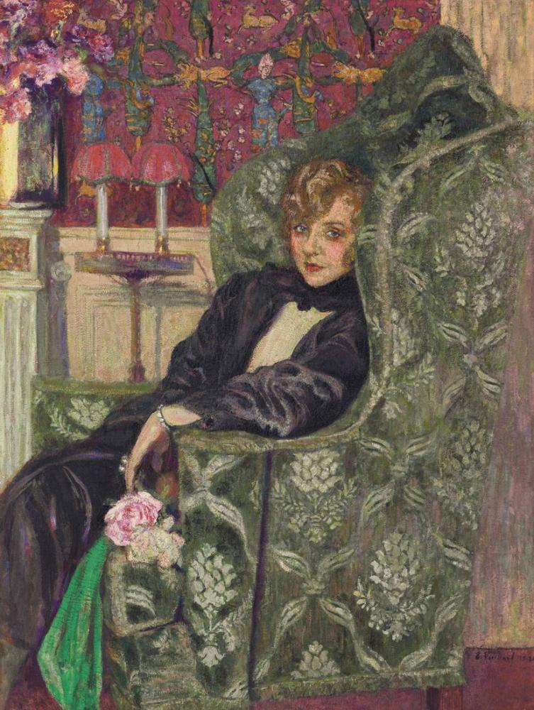 Edouard Vuillard, Sandalyede Bir Yvonne Baharı, Kanvas Tablo, Édouard Vuillard, kanvas tablo, canvas print sales