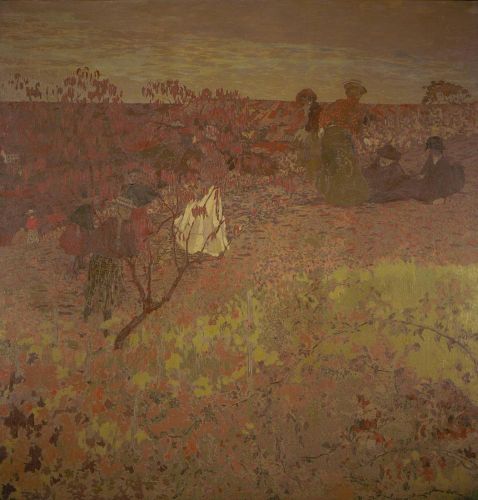 Edouard Vuillard, Walking in the Vineyard, Figure, Édouard Vuillard, kanvas tablo, canvas print sales