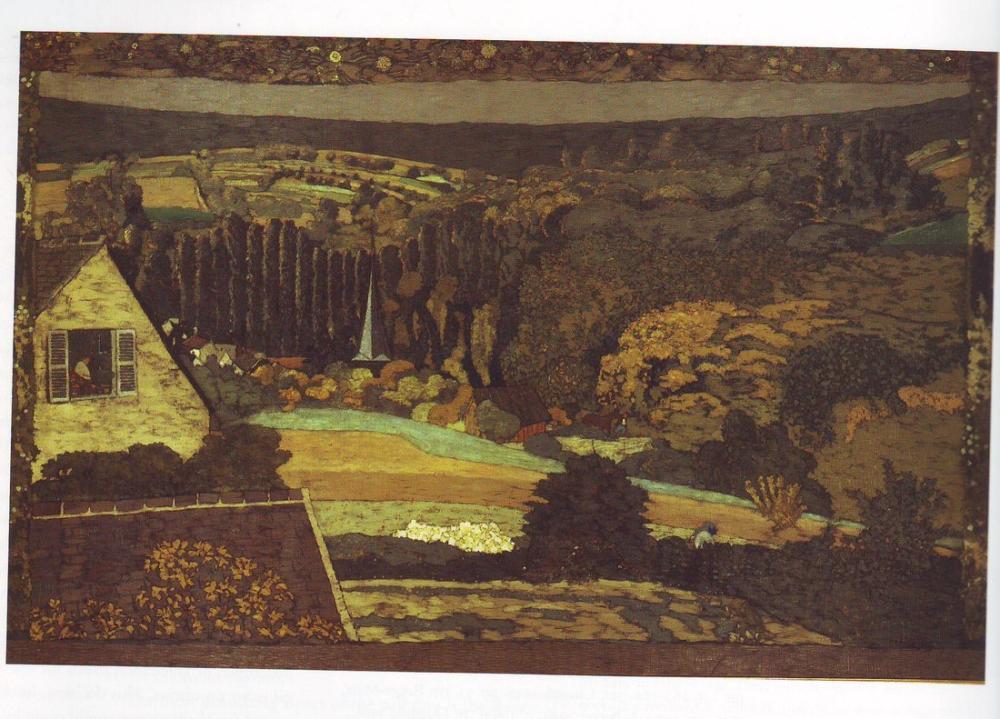 Edouard Vuillard, Ormana Bakan Pencere, Kanvas Tablo, Édouard Vuillard, kanvas tablo, canvas print sales