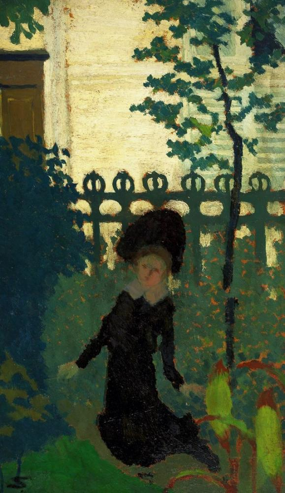 Edouard Vuillard, Woman in the Garden, Figure, Édouard Vuillard, kanvas tablo, canvas print sales