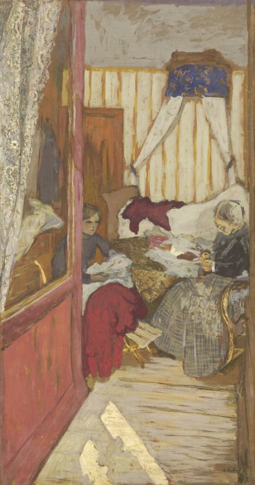 Edouard Vuillard, Women Sewing, Canvas, Édouard Vuillard, kanvas tablo, canvas print sales