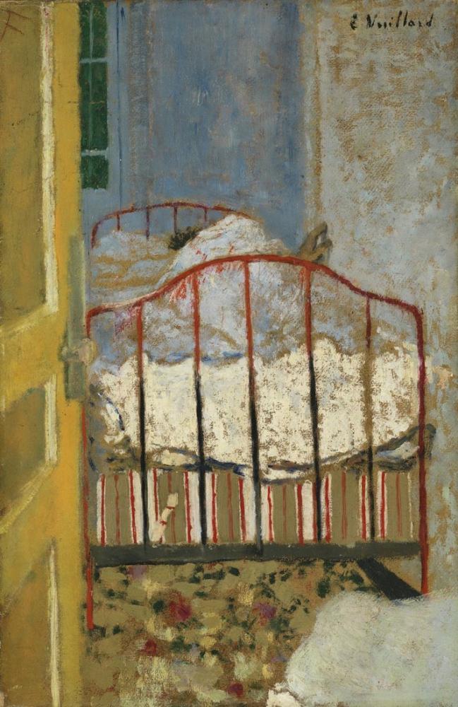 Edouard Vuillard, Yatak, Kanvas Tablo, Édouard Vuillard, kanvas tablo, canvas print sales