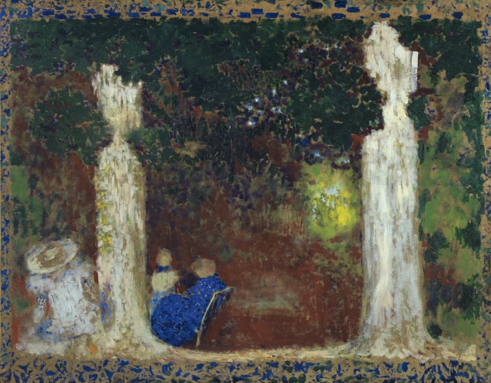 Edouard Vuillard, Beneath the Trees, Canvas, Édouard Vuillard, kanvas tablo, canvas print sales