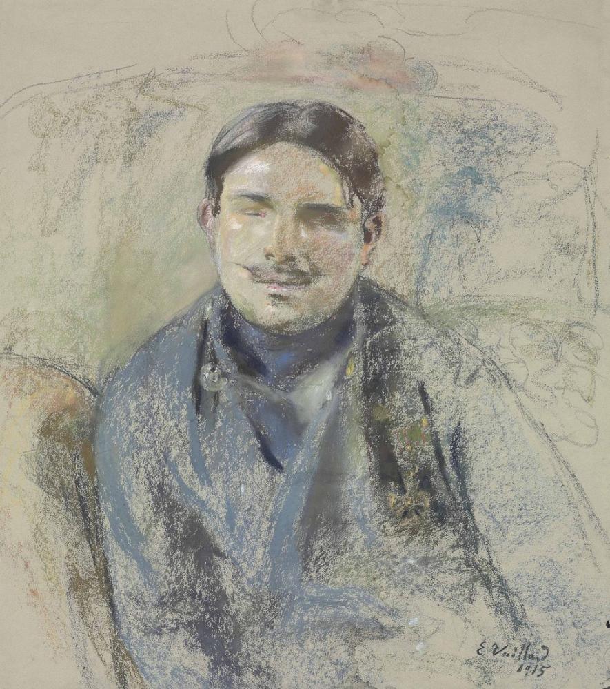 Edouard Vuillard, Lucien Grandjean ın Savaş Kör Büstü, Kanvas Tablo, Édouard Vuillard, kanvas tablo, canvas print sales