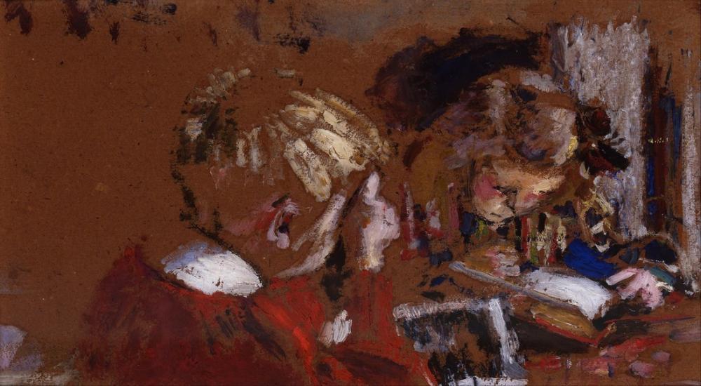 Edouard Vuillard, Children Reading, Canvas, Édouard Vuillard, kanvas tablo, canvas print sales