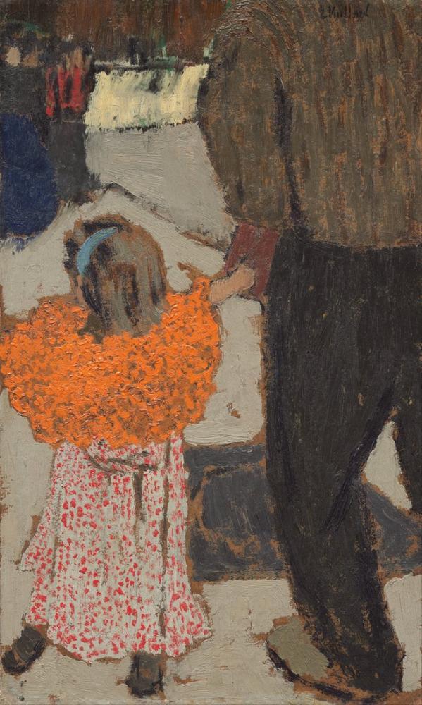Edouard Vuillard, Kırmızı Şal Giyen Çocuk, Kanvas Tablo, Édouard Vuillard, kanvas tablo, canvas print sales