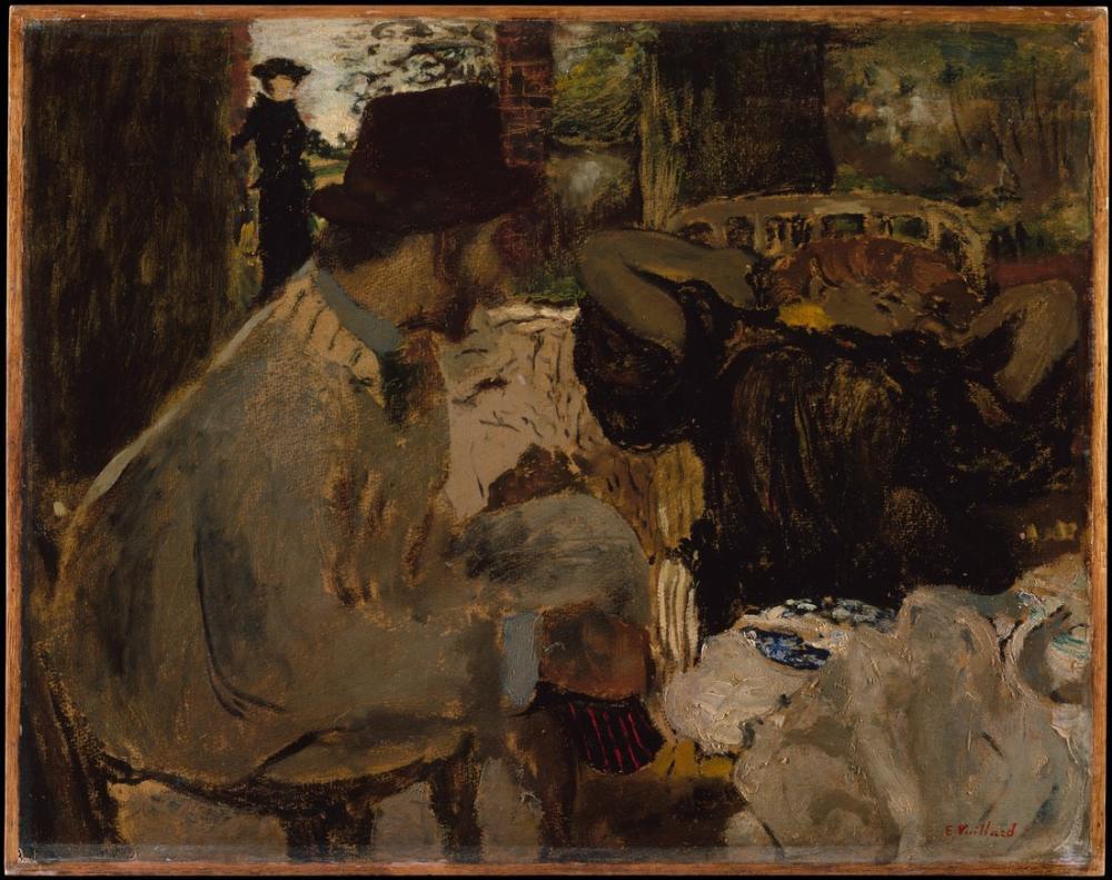 Edouard Vuillard, Sohbet, Kanvas Tablo, Édouard Vuillard, kanvas tablo, canvas print sales