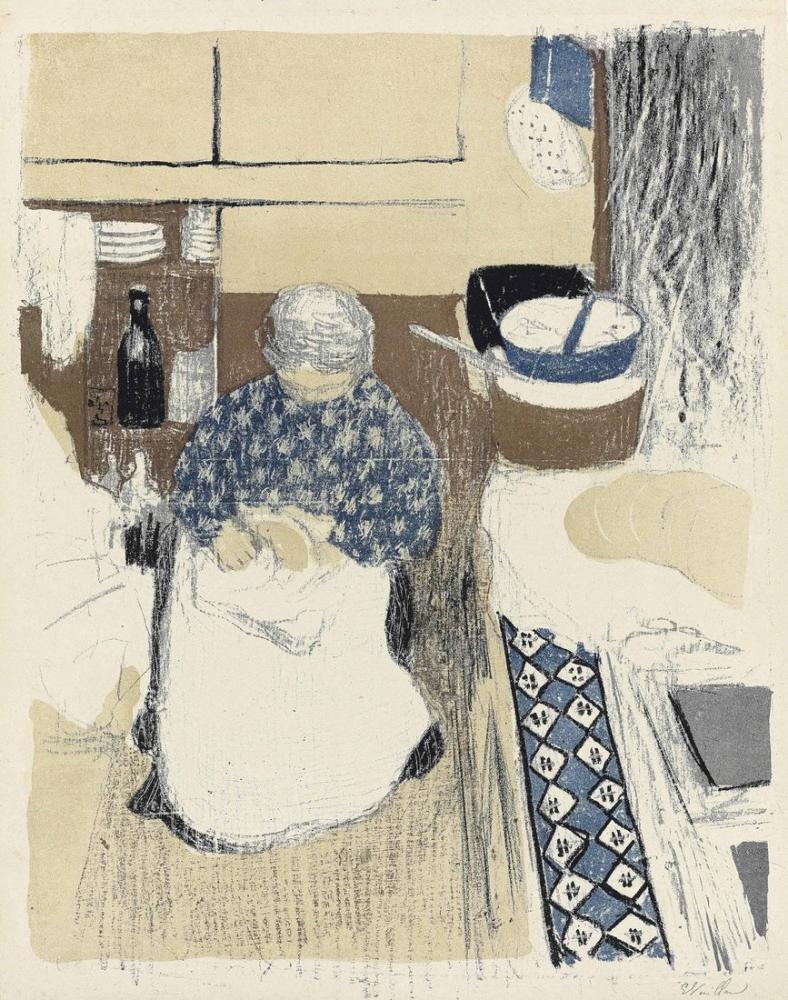 Edouard Vuillard, Manzara ve İç Mekanlardan Yemek Yapma, Figür, Édouard Vuillard, kanvas tablo, canvas print sales