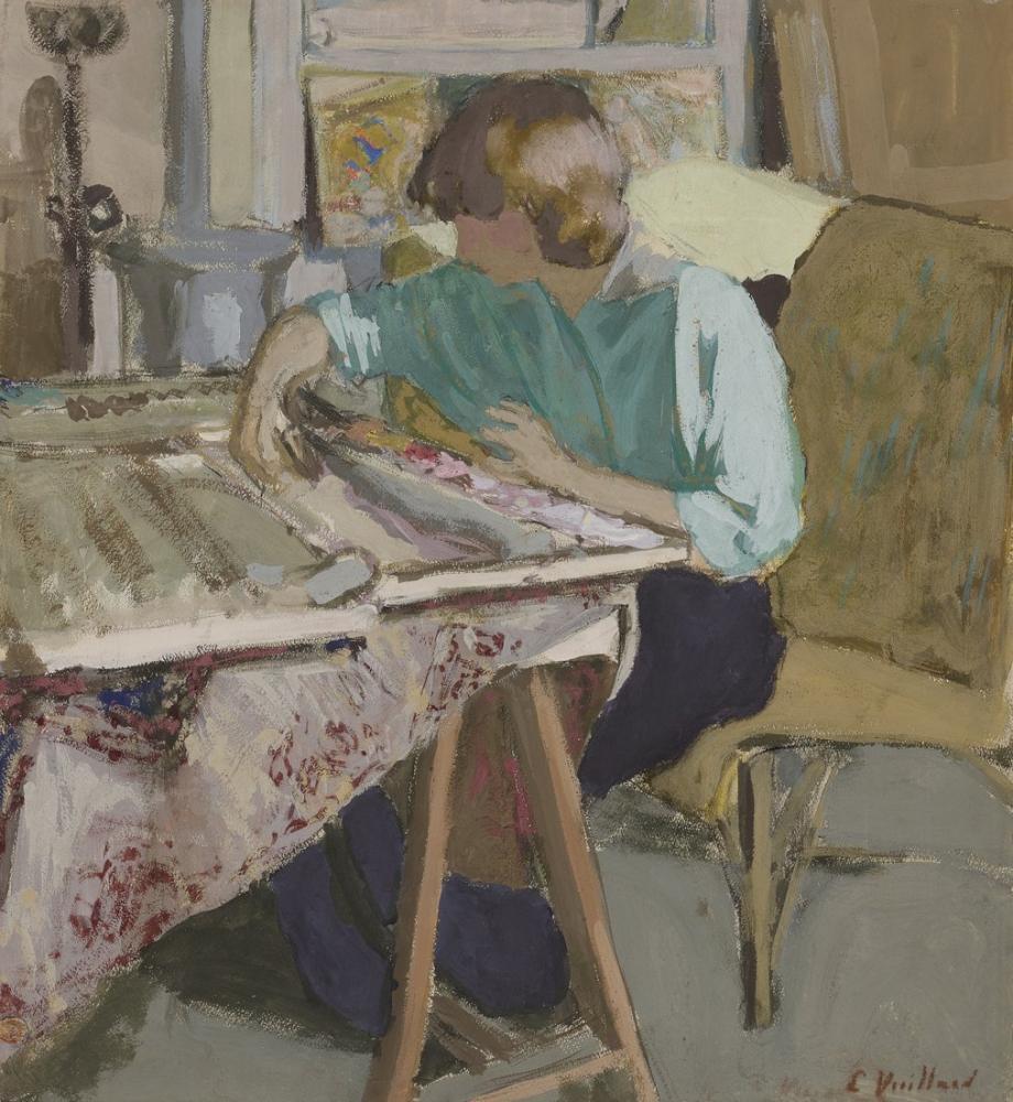 Edouard Vuillard, Dans L'atelier, Canvas, Édouard Vuillard, kanvas tablo, canvas print sales