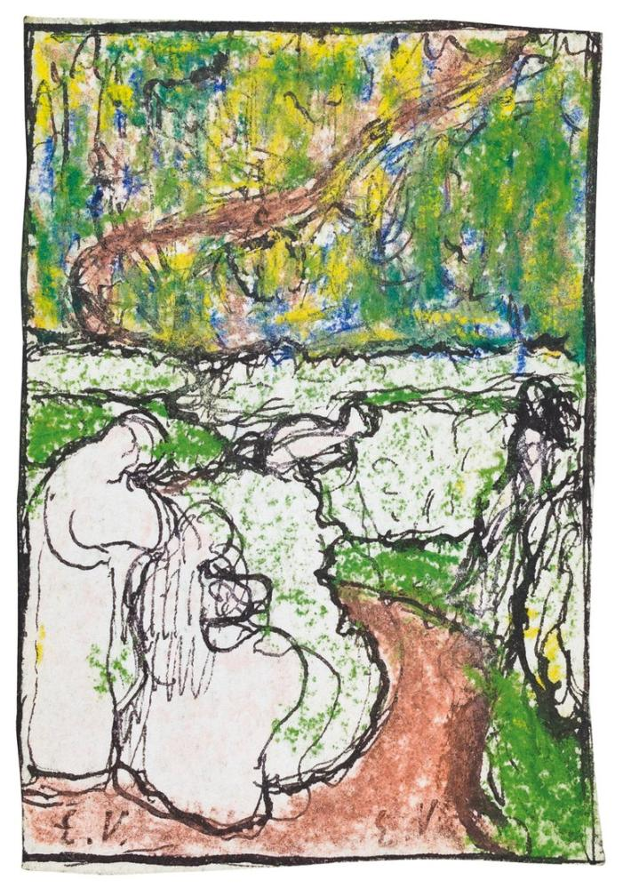 Edouard Vuillard, Bahçede, Figür, Édouard Vuillard, kanvas tablo, canvas print sales