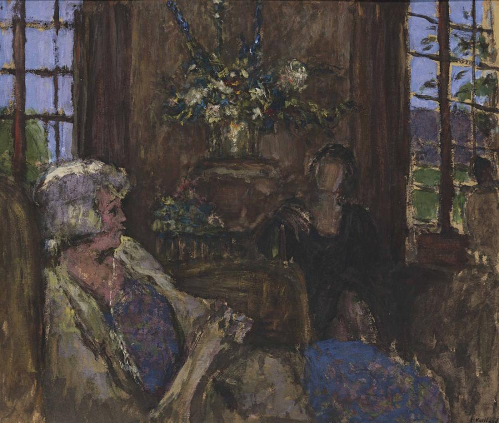 Edouard Vuillard, Salon des Clayes içinde İki Bayan, Figür, Édouard Vuillard, kanvas tablo, canvas print sales