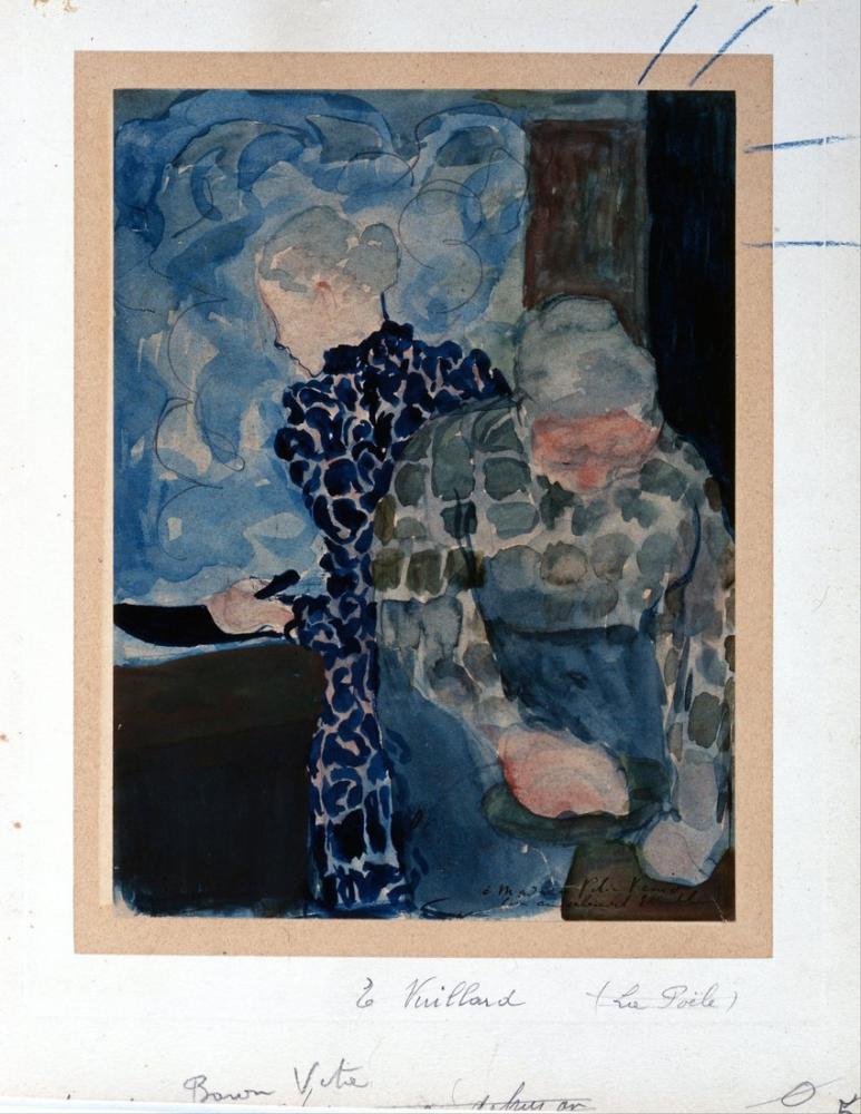 Edouard Vuillard, İç Mekanda İki Kadın, Kanvas Tablo, Édouard Vuillard, kanvas tablo, canvas print sales