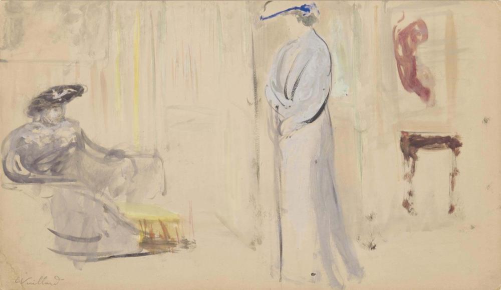 Edouard Vuillard, Deux Femmes en Chapeau, Figure, Édouard Vuillard, kanvas tablo, canvas print sales