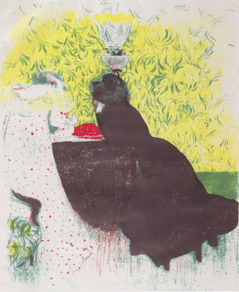 Edouard Vuillard, İki Kız Kardeş, Kanvas Tablo, Édouard Vuillard, kanvas tablo, canvas print sales
