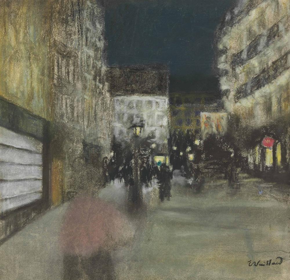 Edouard Vuillard, Effet du Soir, Canvas, Édouard Vuillard, kanvas tablo, canvas print sales