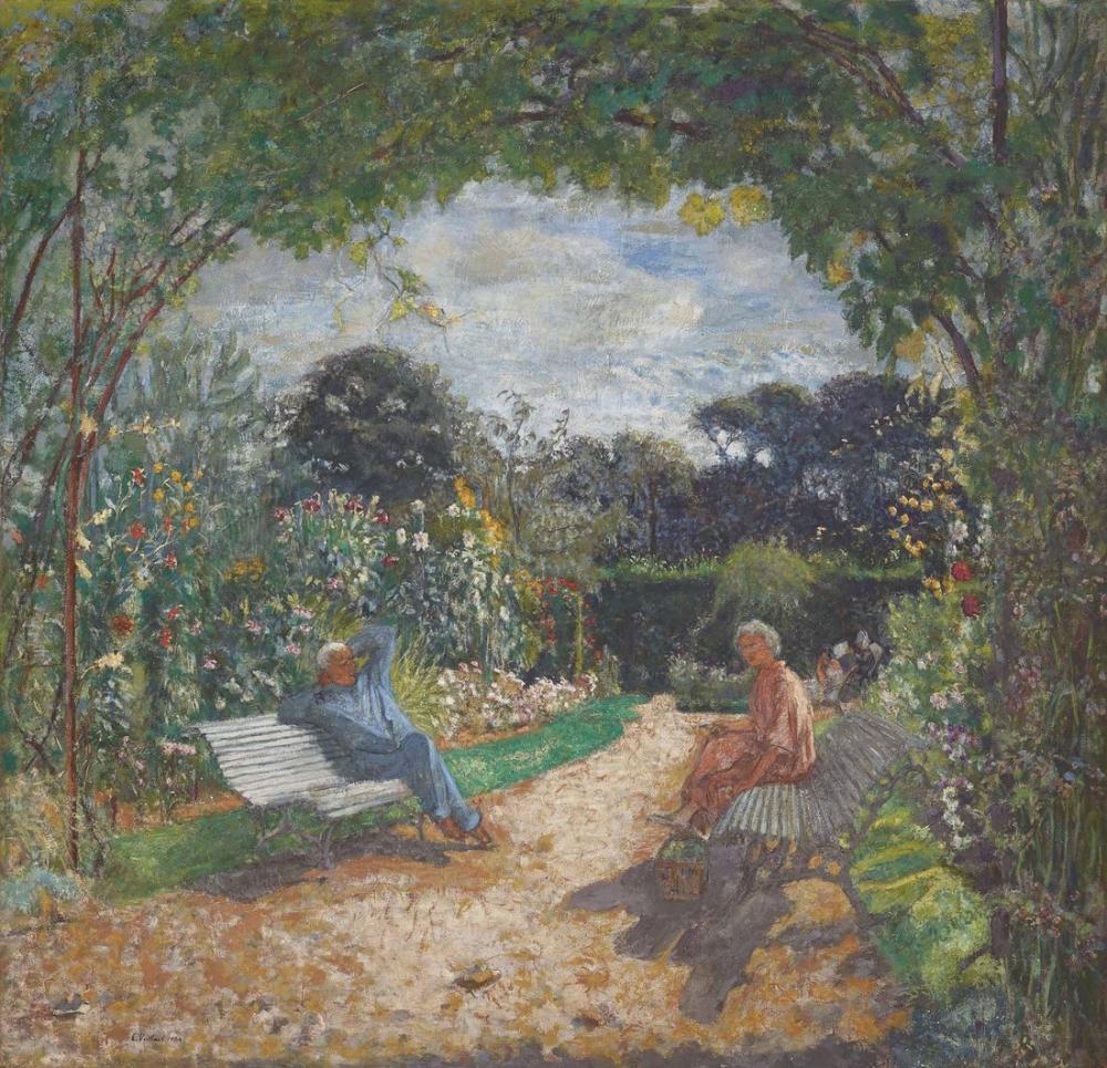 Edouard Vuillard, A le matin au jardin clos Cezanne, Canvas, Édouard Vuillard, kanvas tablo, canvas print sales