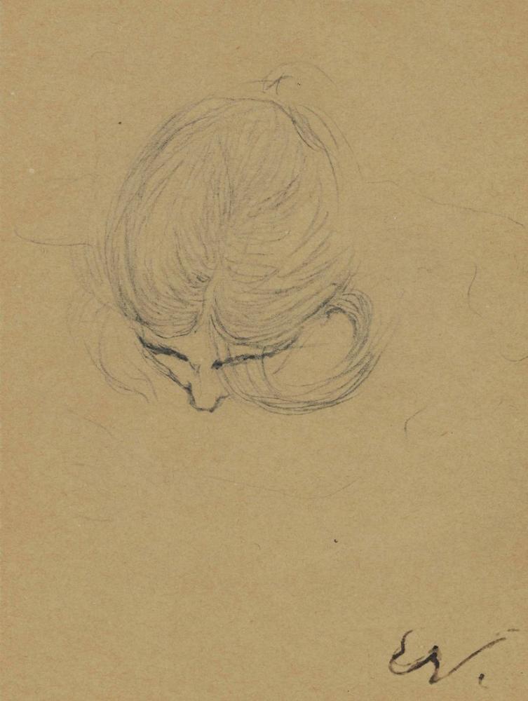 Edouard Vuillard, Eğik Kafa Çalışması, Kanvas Tablo, Édouard Vuillard, kanvas tablo, canvas print sales