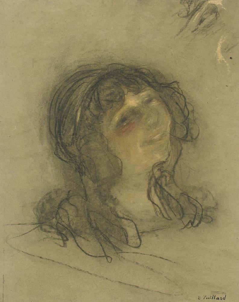 Edouard Vuillard, Etude pour Angelique, Figure, Édouard Vuillard, kanvas tablo, canvas print sales