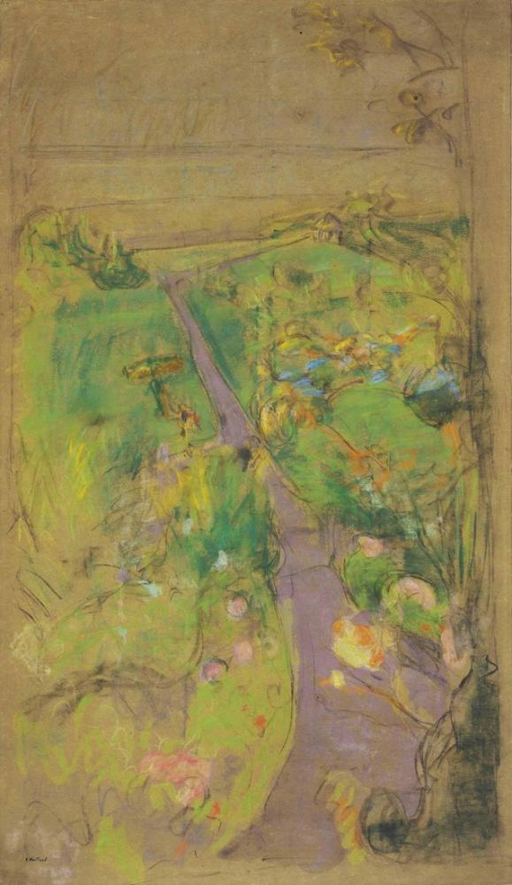 Edouard Vuillard, Etude pour vue des pavillons vers la mer, Figür, Édouard Vuillard, kanvas tablo, canvas print sales