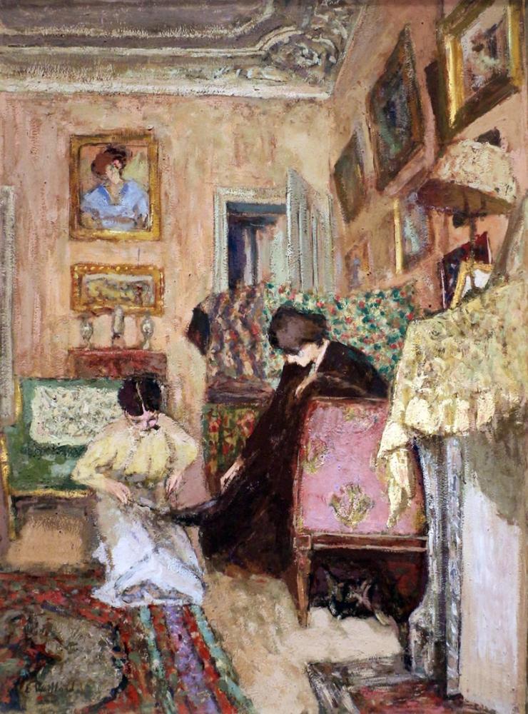Edouard Vuillard, Botları Bağlama, Kanvas Tablo, Édouard Vuillard, kanvas tablo, canvas print sales