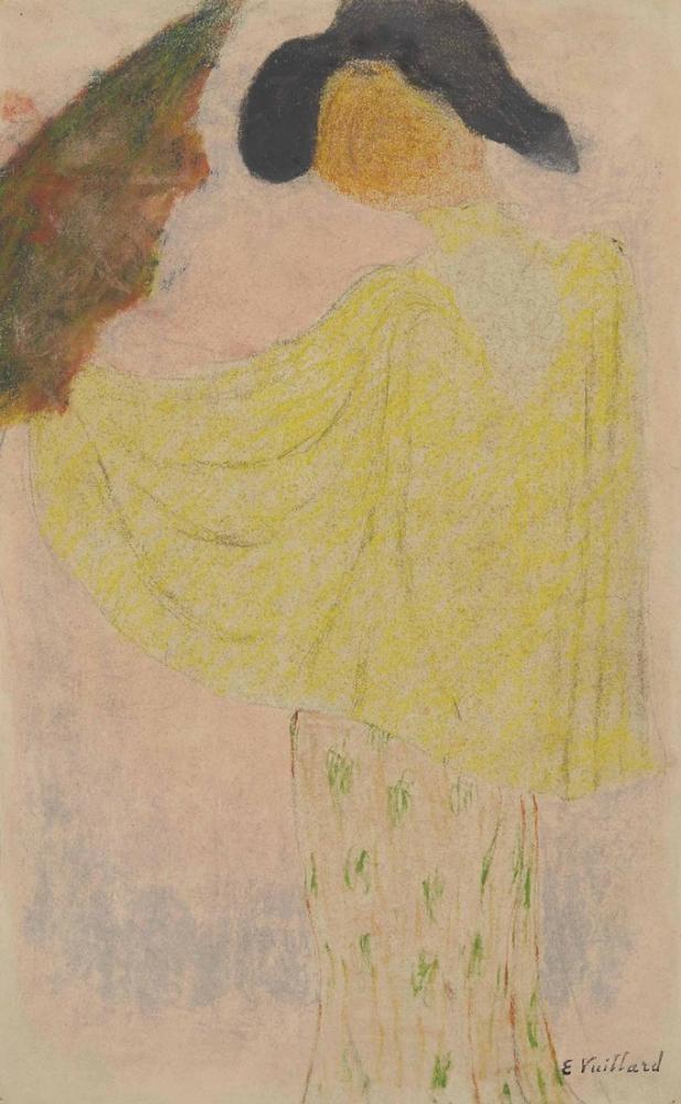Edouard Vuillard, Femme a L ombrelle, Figure, Édouard Vuillard, kanvas tablo, canvas print sales