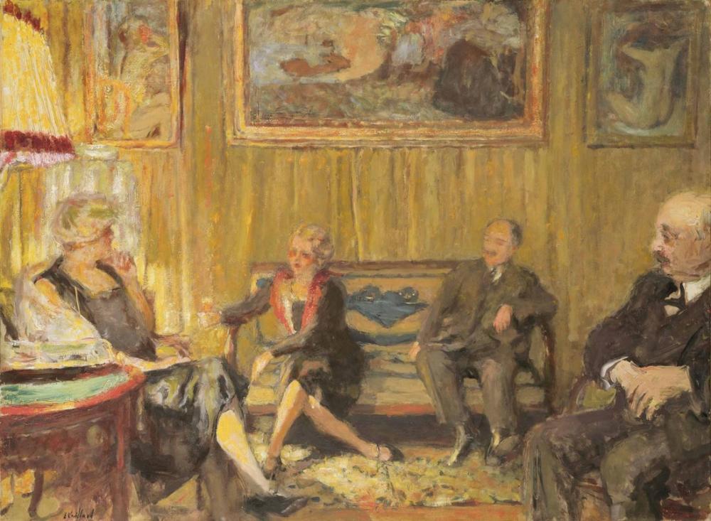 Edouard Vuillard, Napoli Caddesinde Küçük Bir Salonda, Kanvas Tablo, Édouard Vuillard, kanvas tablo, canvas print sales