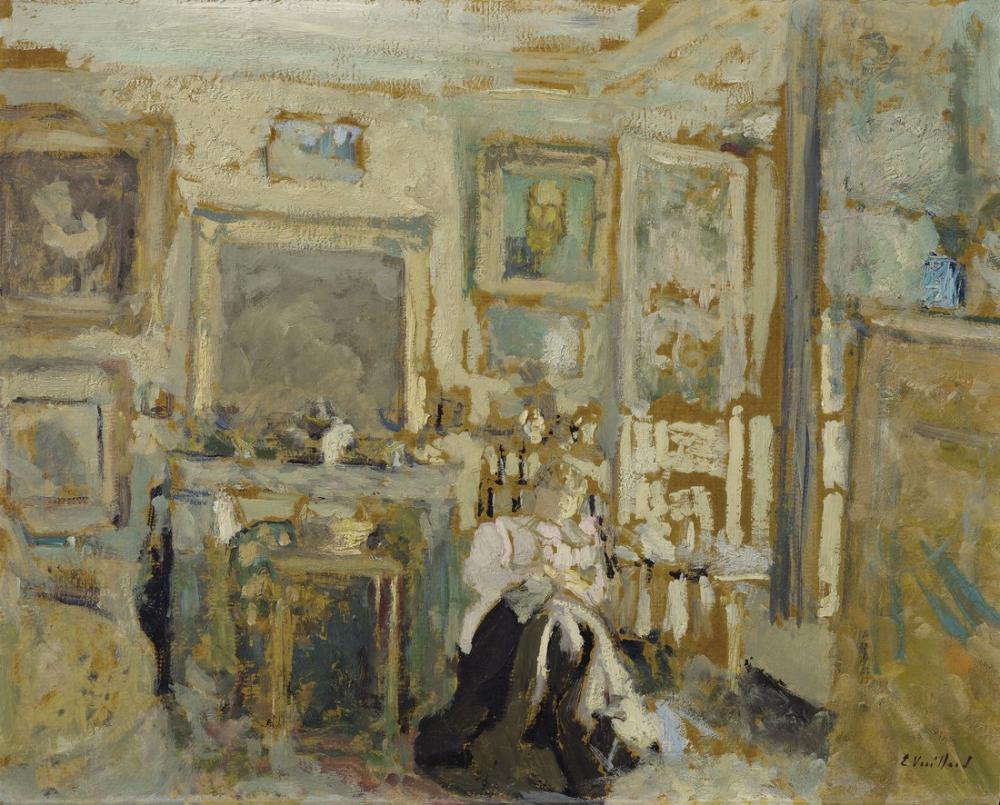 Edouard Vuillard, Femme assise dans un interieur clair, Figure, Édouard Vuillard, kanvas tablo, canvas print sales