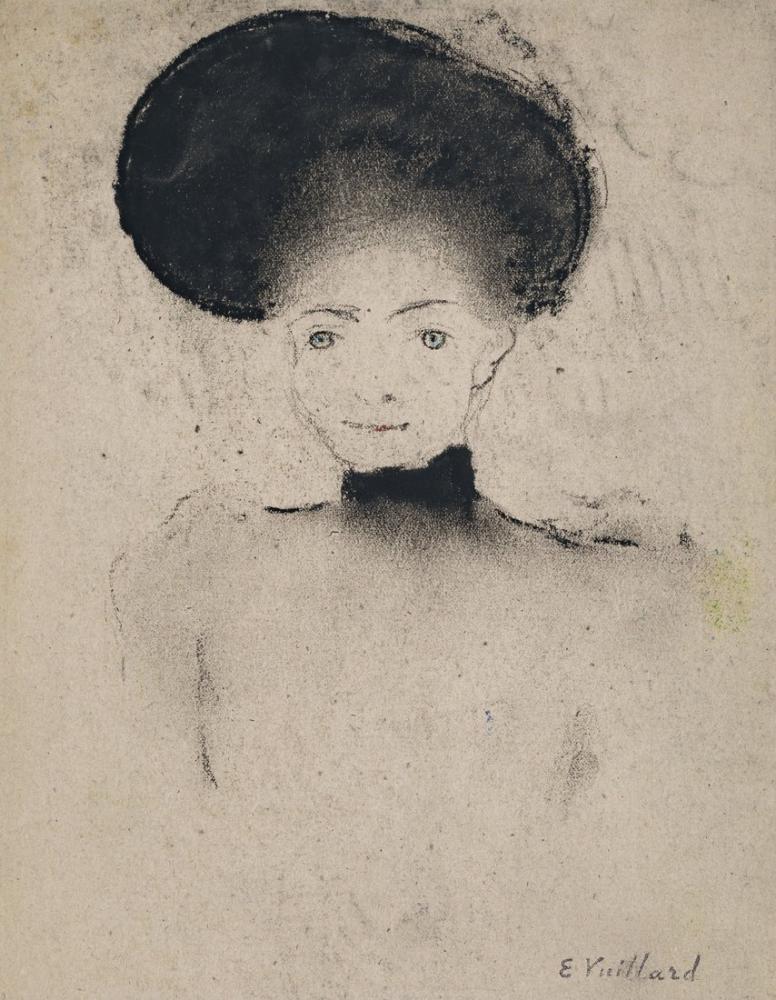 Edouard Vuillard, Femme au grand chapeau, Figure, Édouard Vuillard, kanvas tablo, canvas print sales
