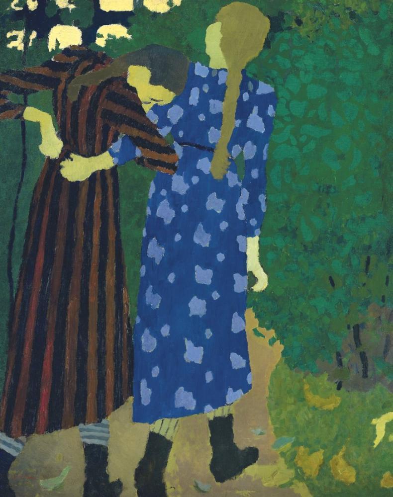 Edouard Vuillard, Kızlar Dolaşıyor, Kanvas Tablo, Édouard Vuillard, kanvas tablo, canvas print sales