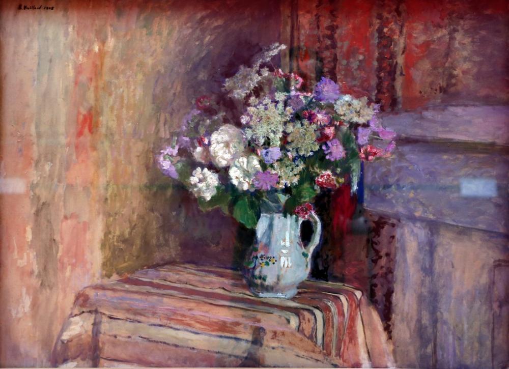 Edouard Vuillard, Fiori in un vaso, Canvas, Édouard Vuillard, kanvas tablo, canvas print sales