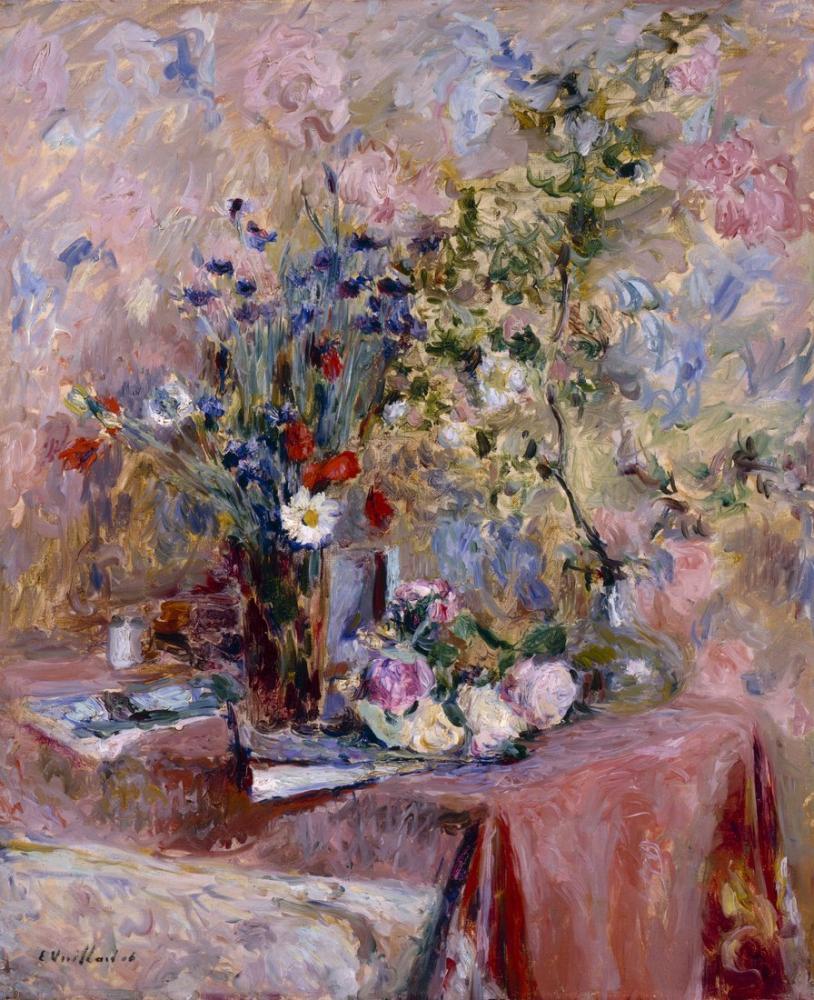 Edouard Vuillard, Flowers, Canvas, Édouard Vuillard, kanvas tablo, canvas print sales