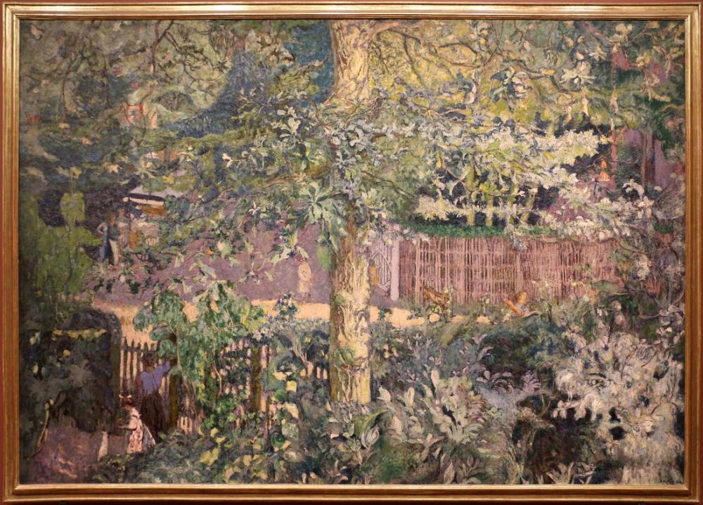 Edouard Vuillard, Fogliame acero e fruttivendolo, Canvas, Édouard Vuillard, kanvas tablo, canvas print sales