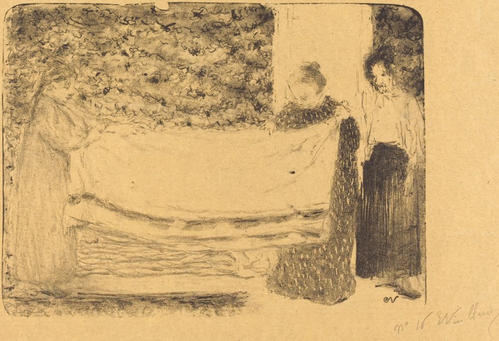 Edouard Vuillard, Keten Katlama, Kanvas Tablo, Édouard Vuillard, kanvas tablo, canvas print sales