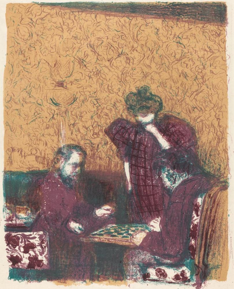 Edouard Vuillard, Game of Checkers, Figure, Édouard Vuillard, kanvas tablo, canvas print sales