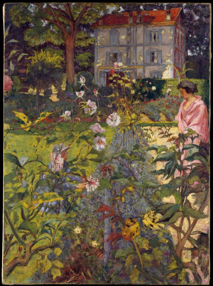 Edouard Vuillard, Garden at Vaucresson, Canvas, Édouard Vuillard, kanvas tablo, canvas print sales