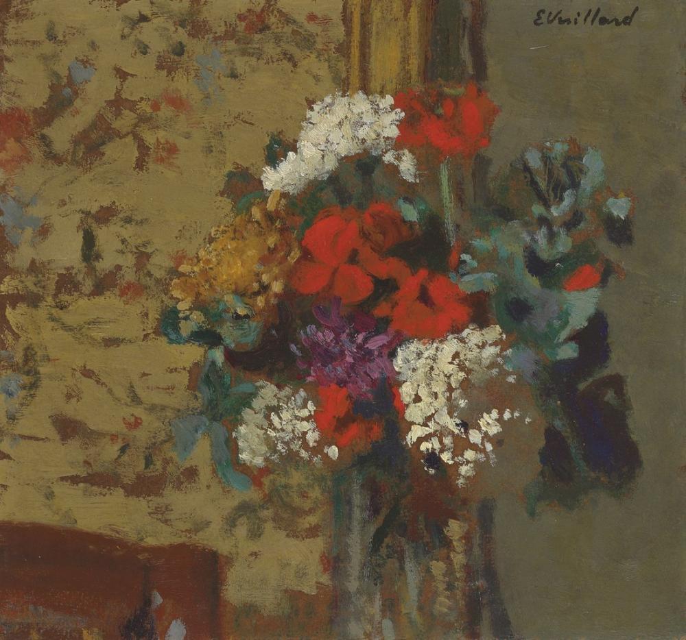 Edouard Vuillard, Sardunyalar ve Kartopu, Kanvas Tablo, Édouard Vuillard, kanvas tablo, canvas print sales