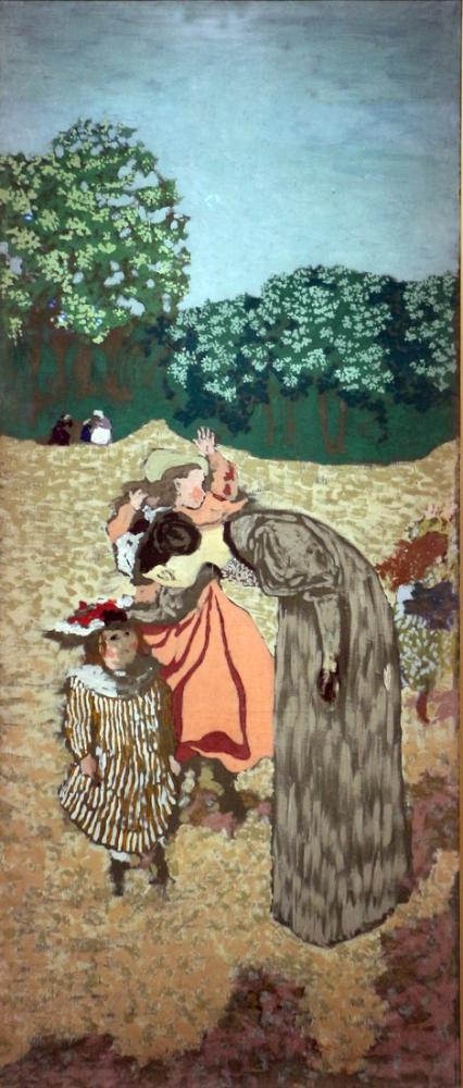 Edouard Vuillard, Giardini pubblici l interrogatorio ripreso nel, Figure, Édouard Vuillard, kanvas tablo, canvas print sales