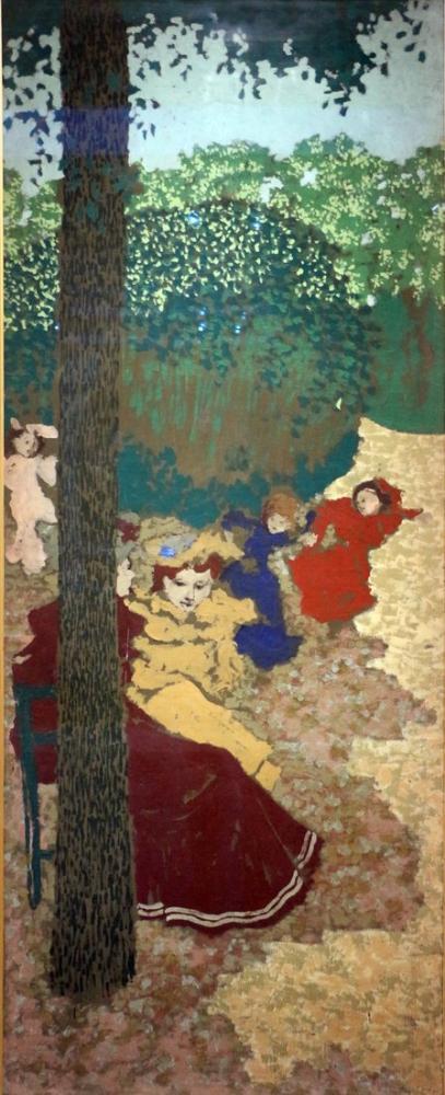 Edouard Vuillard, Giardini pubblici ragazzine che giocano ripreso nel, Figure, Édouard Vuillard, kanvas tablo, canvas print sales