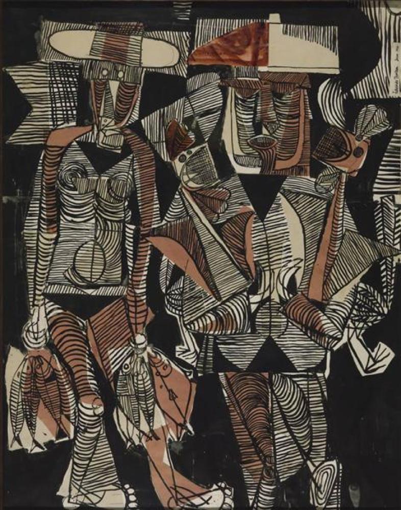 Eduardo Paolozzi Balıkçı ve Karısı, Kanvas Tablo, Eduardo Paolozzi, kanvas tablo, canvas print sales