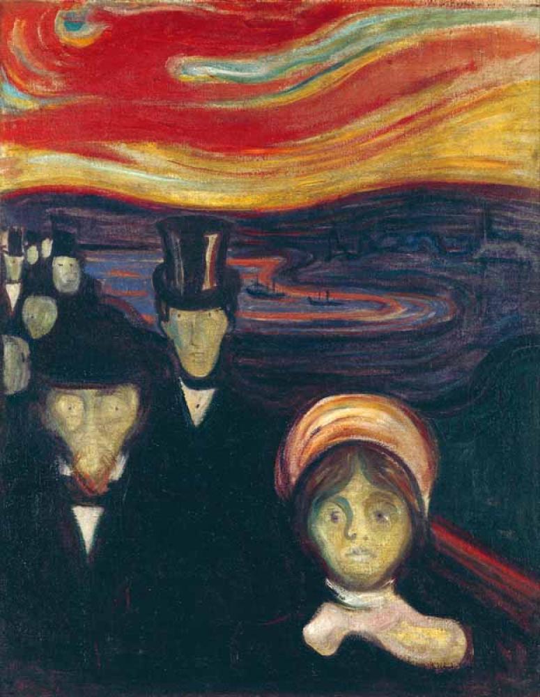 Edvard Munch Kaygı, Kanvas Tablo, Edvard Munch, kanvas tablo, canvas print sales