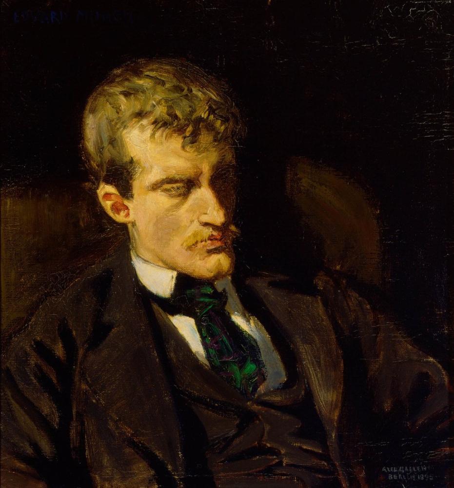 Edvard Munch Akseli Gallen Kallela Portrait, Canvas, Edvard Munch, kanvas tablo, canvas print sales