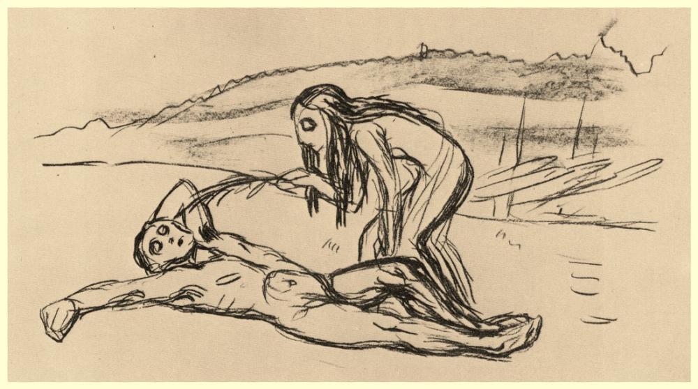 Edvard Munch Alpha And Omega, Canvas, Edvard Munch, kanvas tablo, canvas print sales