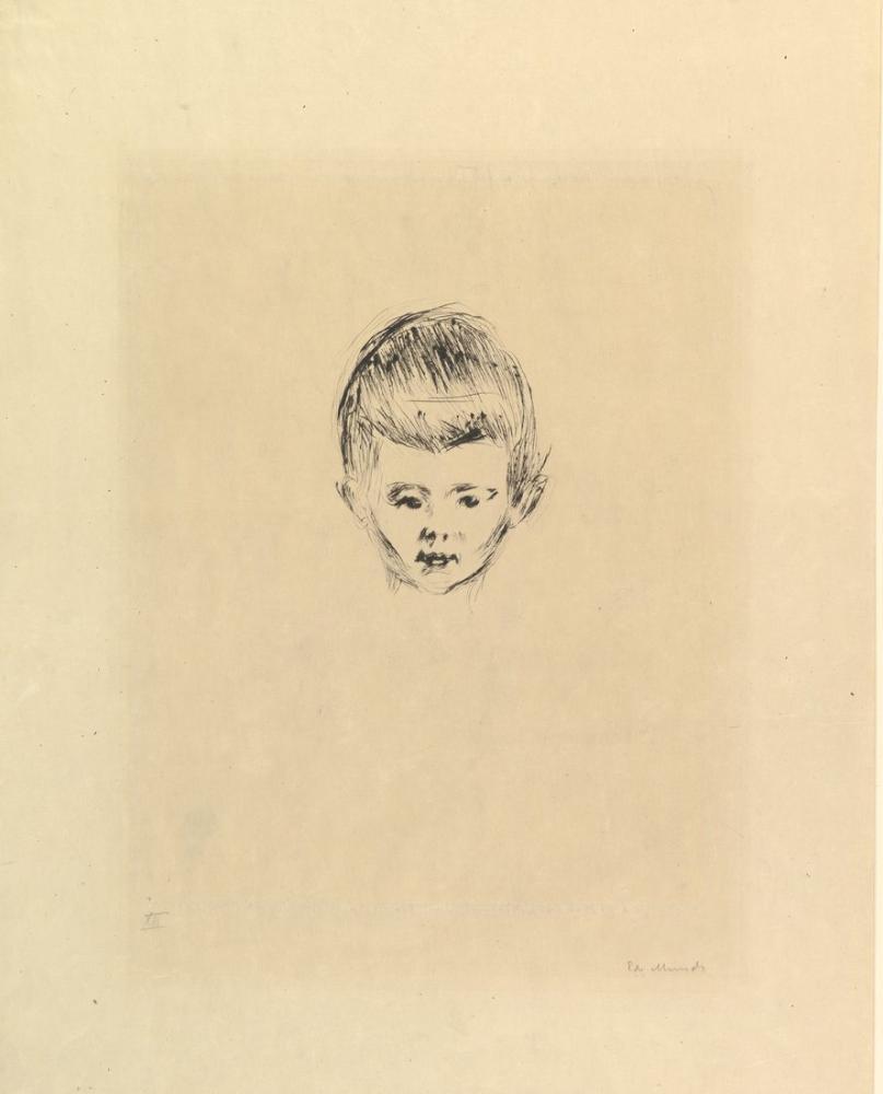 Edvard Munch Andreas Schwartz, Canvas, Edvard Munch, kanvas tablo, canvas print sales