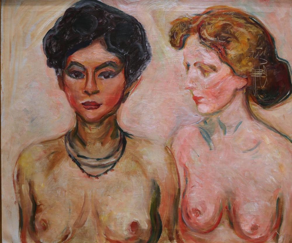 Edvard Munch Nude Blond And Brown, Canvas, Edvard Munch, kanvas tablo, canvas print sales